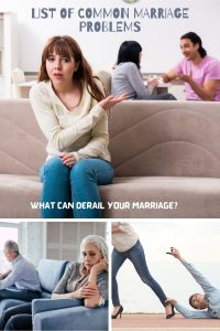 List Of Common Marriage Issues